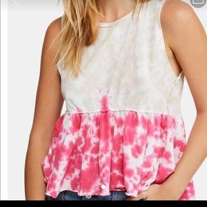 Free people We the free anytime tie dye top large